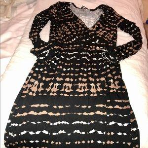 NWOT, print maxi dress, stretchy material, Tart